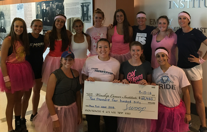 Emory Student-Athletes Make Donation to Winship Cancer Institute