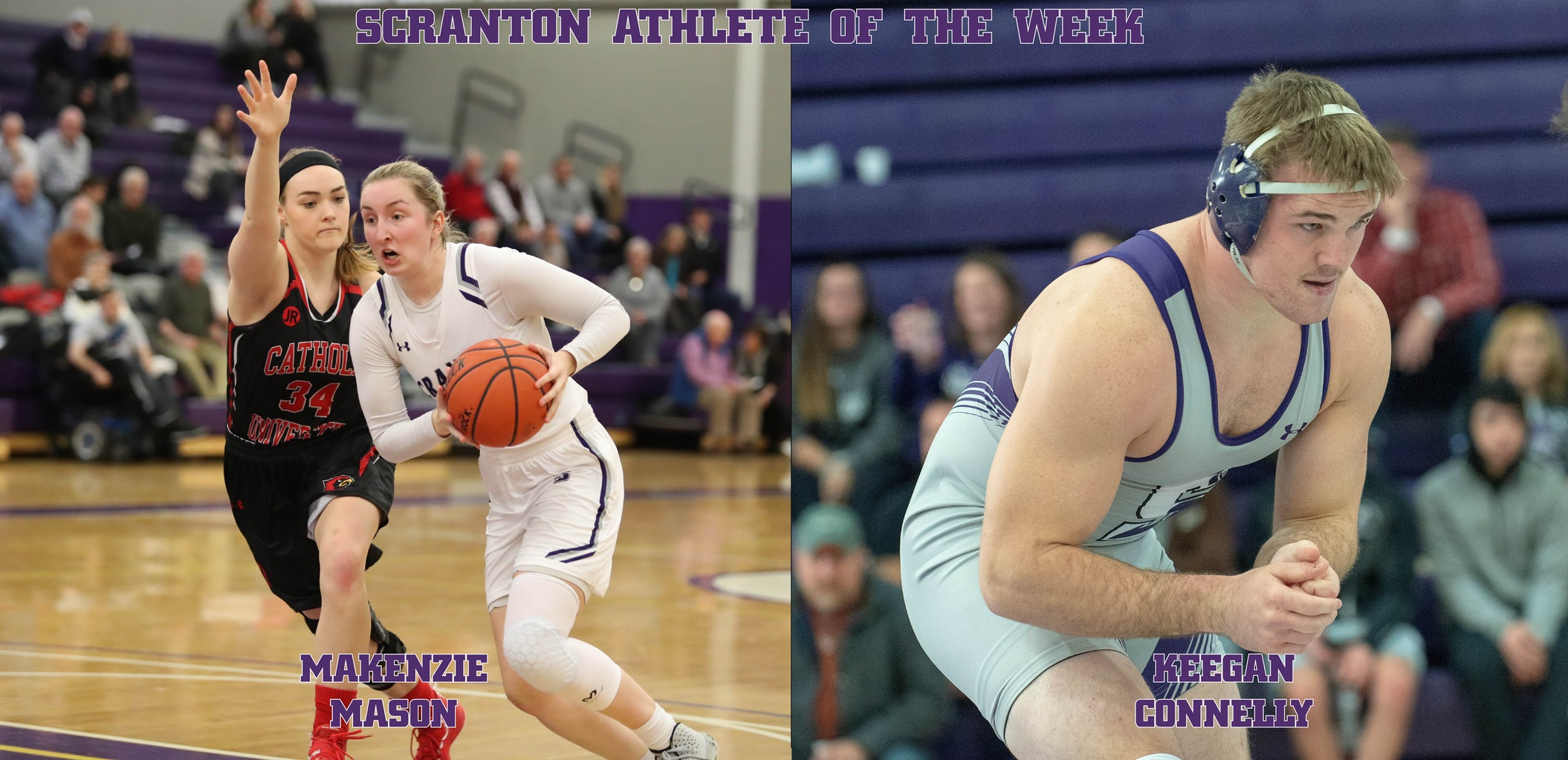 Seniors Makenzie Mason and Keegan Connelly were named Co-Scranton Athletes of the Week on Monday.