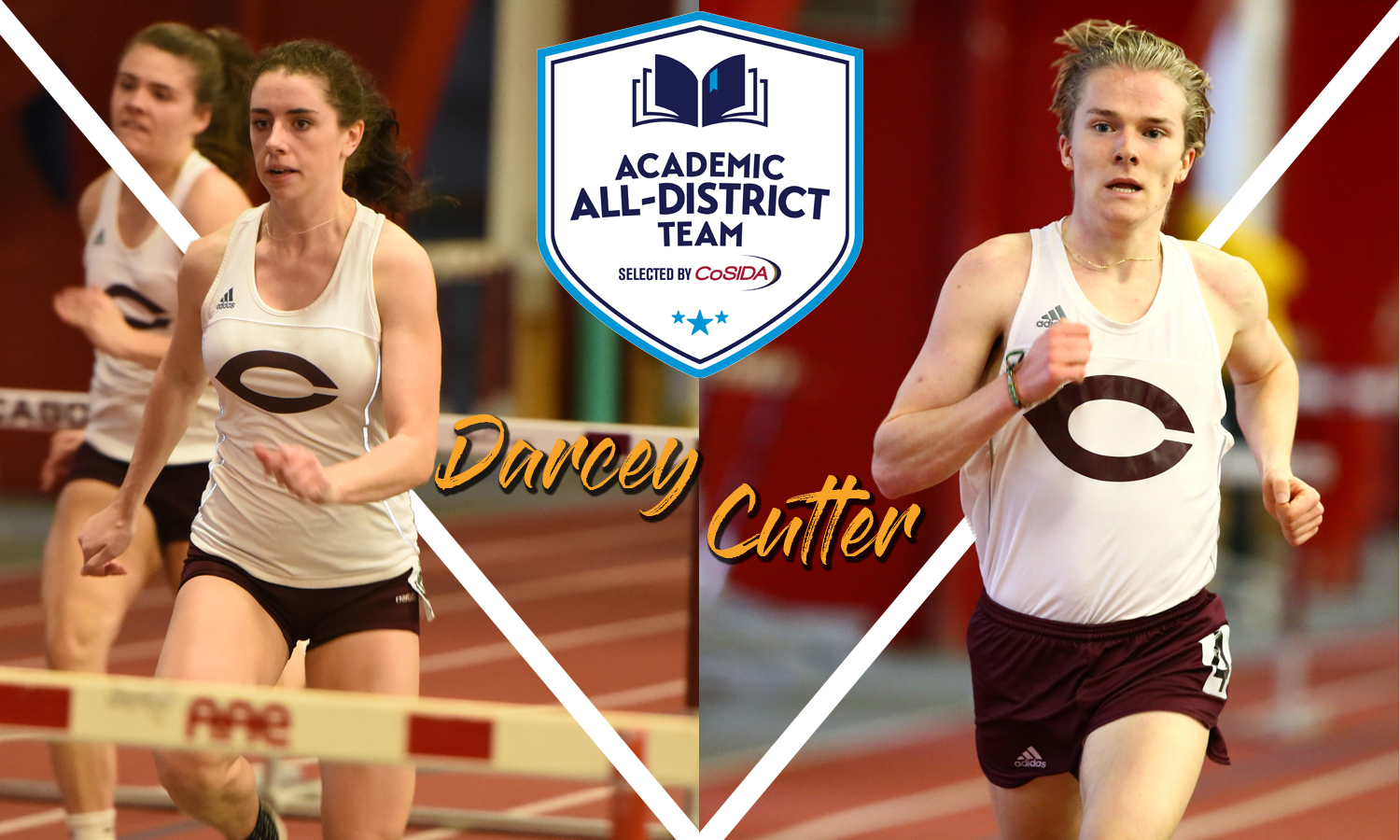 Laura Darcey and Ryan Cutter Earn CoSIDA Academic All-District Status