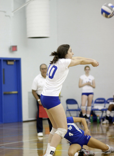Blue Volleyball Drops Two at MIT Invitational