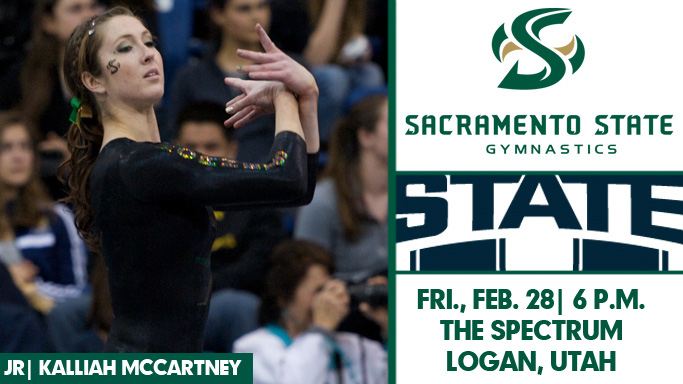 GYMNASTICS TRAVELS TO UTAH STATE FOR FRIDAY NIGHT MEET