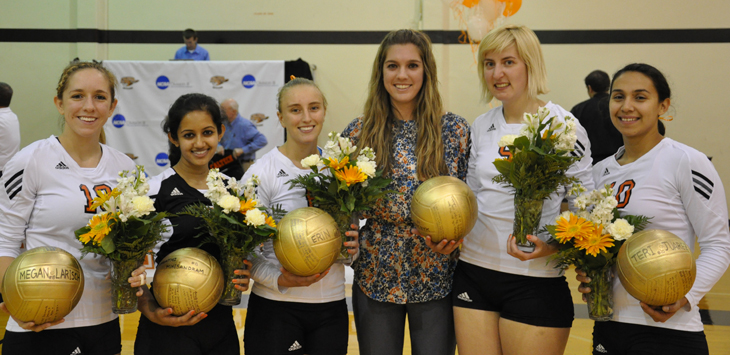 On Senior Night Caltech Tallies Solid Numbers; CMS Wins in Three