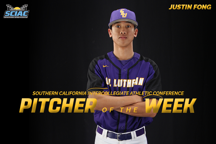 Fong Named SCIAC Pitcher of the Week