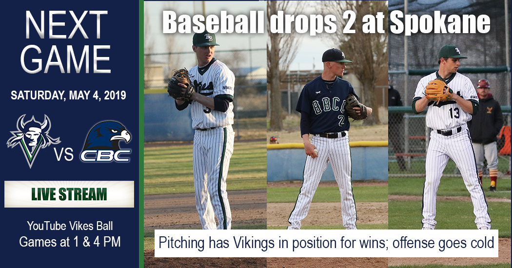 Vikings drop two games on the road to Spokane. Next game is Saturday against Columbia Basin College.