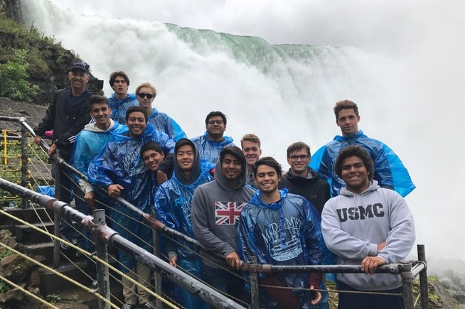 Cerritos men's water polo team visits Niagara Falls before their tournament