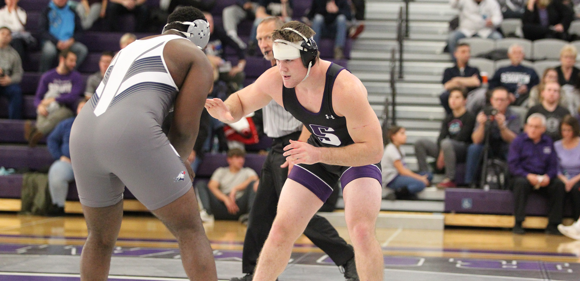 Keegan Connelly posted a technical fall win at 285 pounds on Tuesday night at East Stroudsburg.