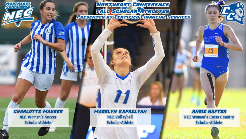 Trio of Blue Devils Named Northeast Conference Fall Scholar-Athletes