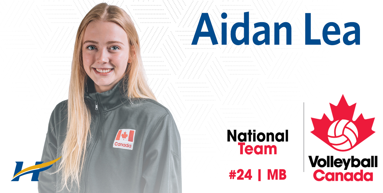Aidan Lea with women's volleyball national team