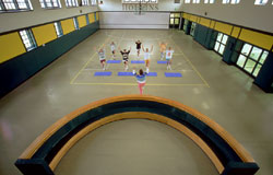Tayloe Fitness Center, gym picture during a class