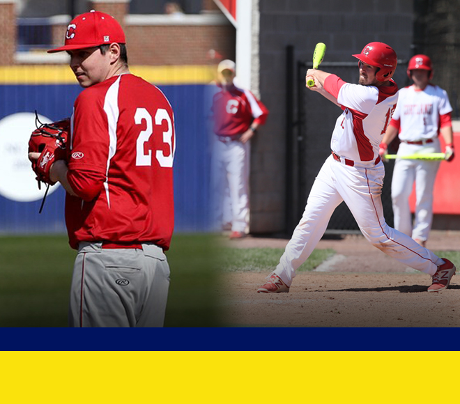 Harrington and Personius awarded weekly honors for baseball