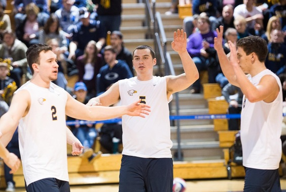 Men's Volleyball Rolls Past Medgar Evers in Inaugural Match