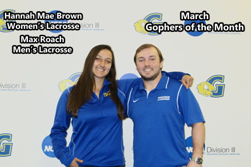 Brown, Roach Named March's Gophers of the Month