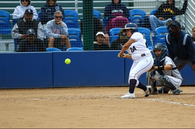 File Photo: Carly Gutierrez drew three walks and drove in a run in the Falcons final game of the season