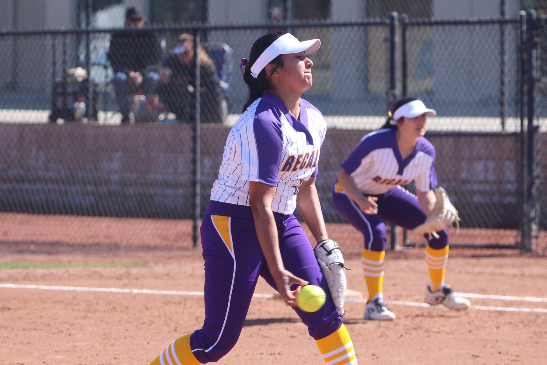 Olivia Serrano pitched the entire second game as the Regals defeated the Tigers 5-4.