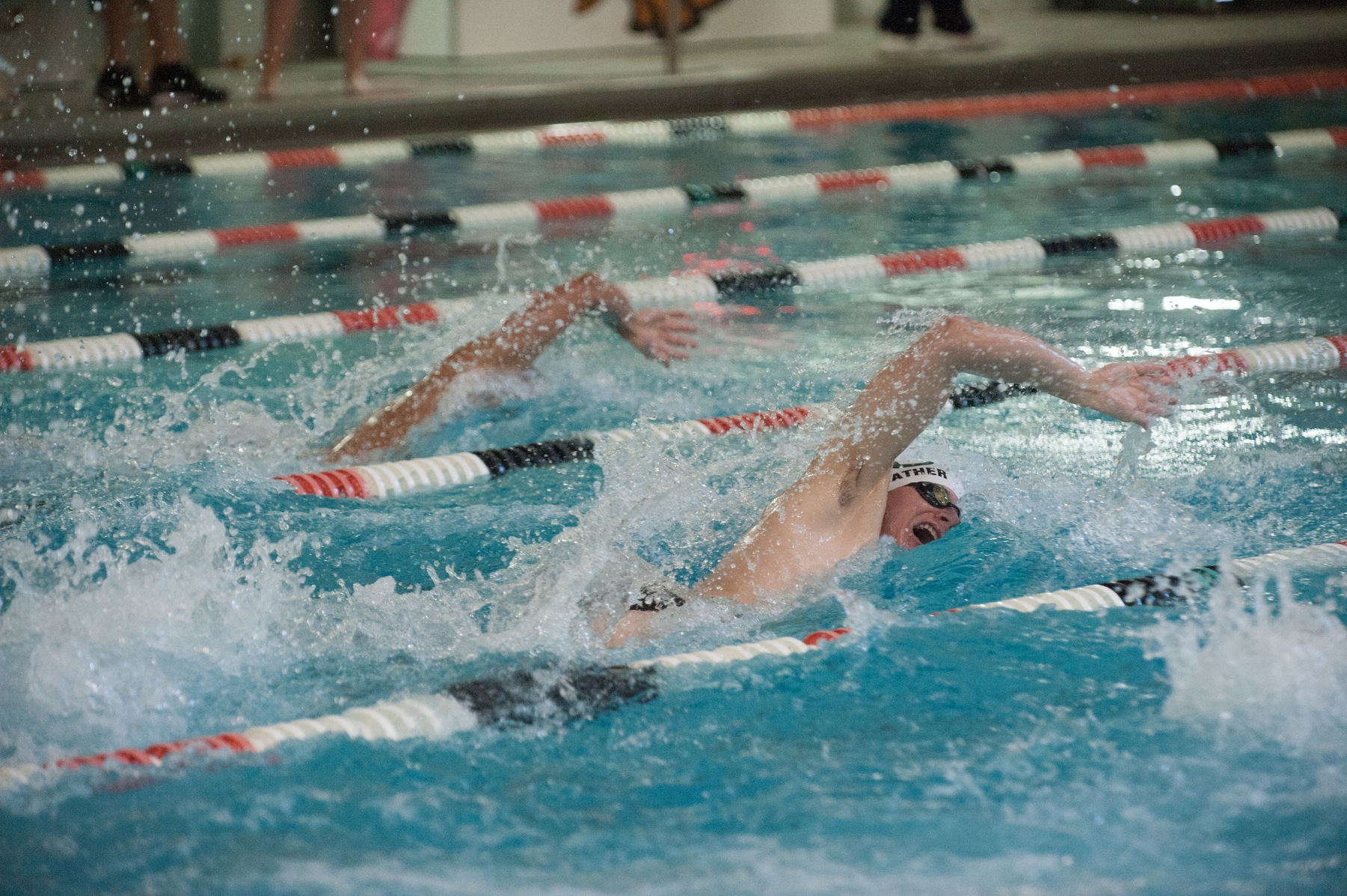 Men's Swimming Competes on Second Day of MAC Championships