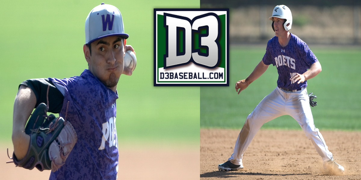 Alex Baez and Brandon Mulrooney named to D3baseball.com Team of the Week