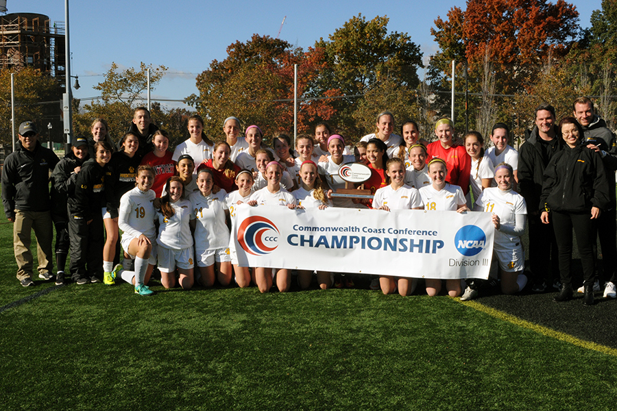 The 2016 Commonwealth Coast Conference Women's Soccer Champions!