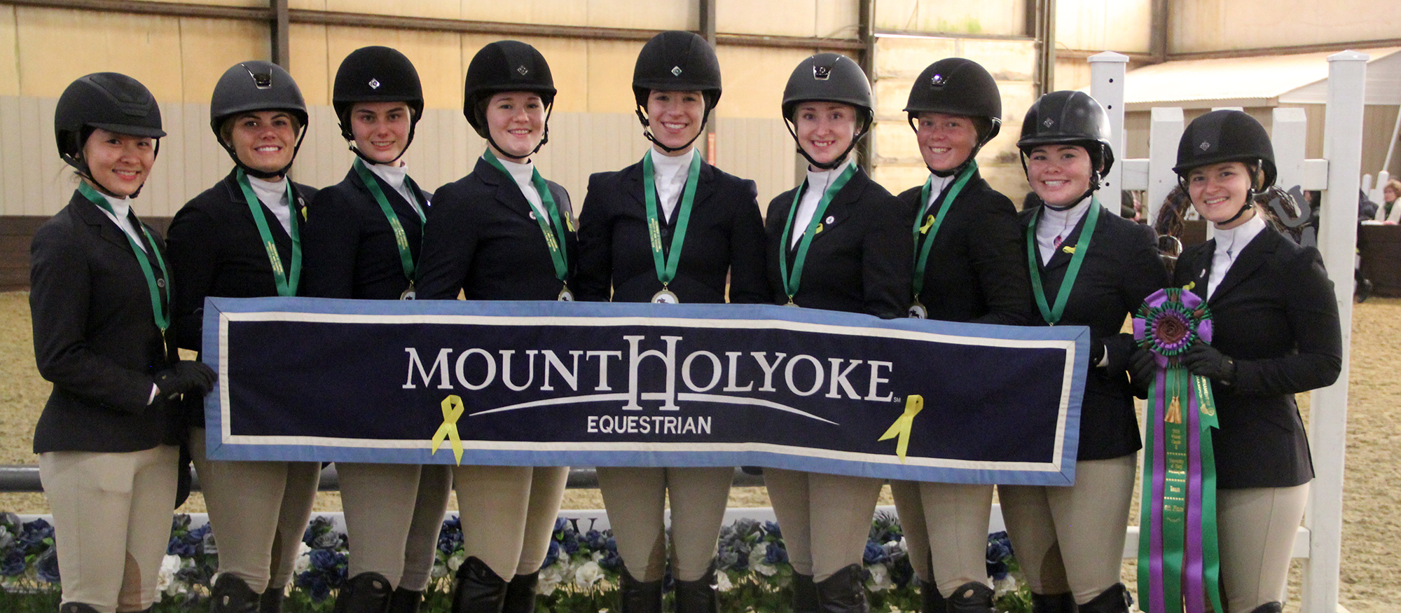 Photo of the Lyons riding team members at the 2019 Winter II Tournament of Champions on Jan. 26, 2019.
