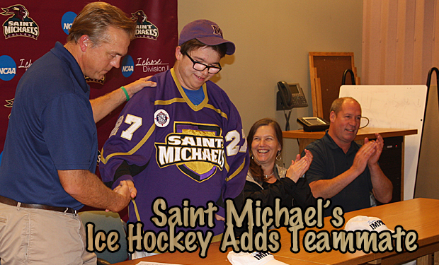 Saint Michael's Ice Hockey Introduces Patrick Bushey on Team IMPACT Draft Day