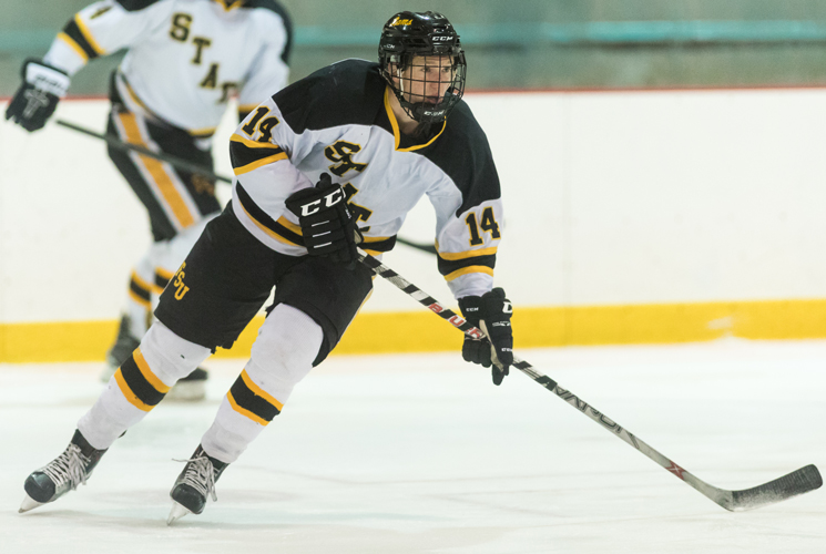 Quick Start Leads SNHU to 2-1 Win Over Ice Hockey