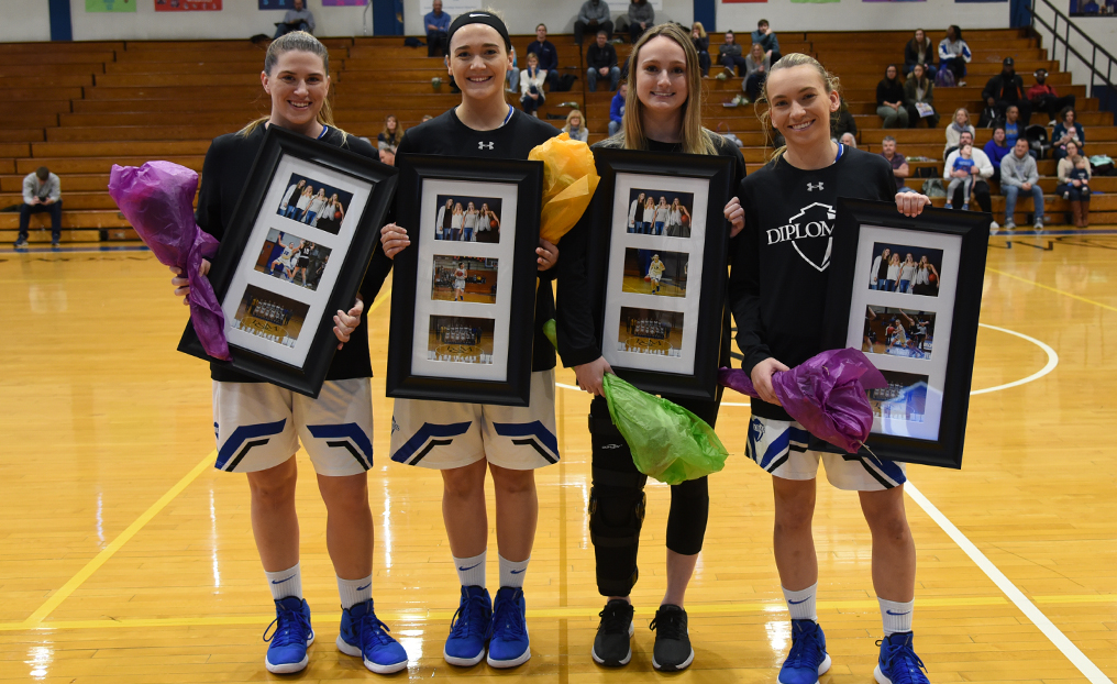 Diplomats Handle Owls on Senior Day