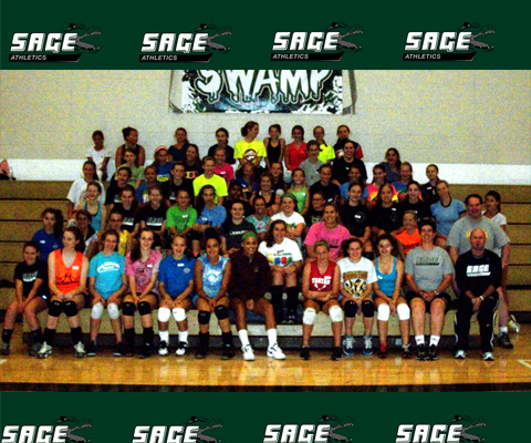 Record numbers attend Sage Women's Volleyball Camp