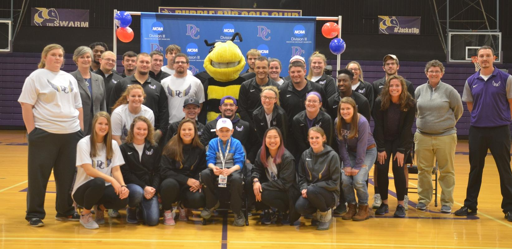 Track and Field Teams Partner with Team Impact