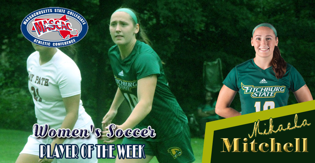 Mitchell Tabbed MASCAC Women's Soccer Player Of The Week