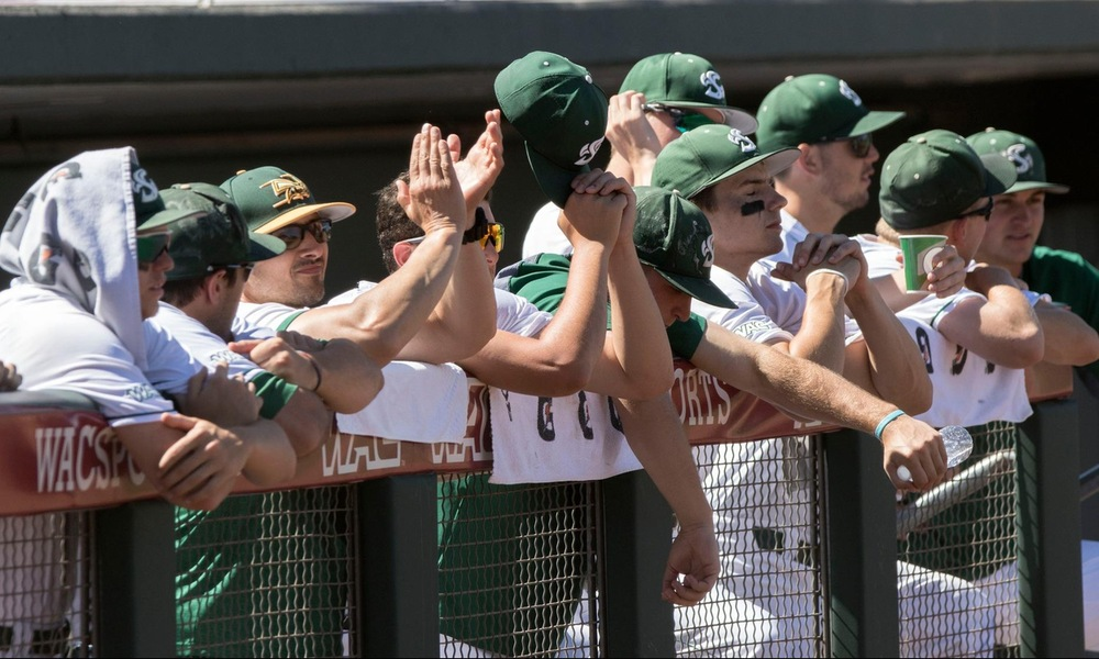 BASEBALL KNOCKS OFF #1 GRAND CANYON, 8-2, TO ADVANCE IN WAC TOURNAMENT