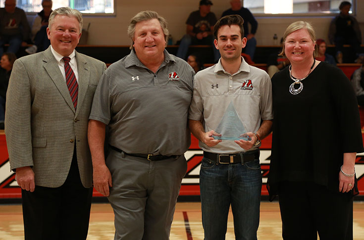 Logan Lanier presented USA South Don Scalf Award in ceremony Saturday