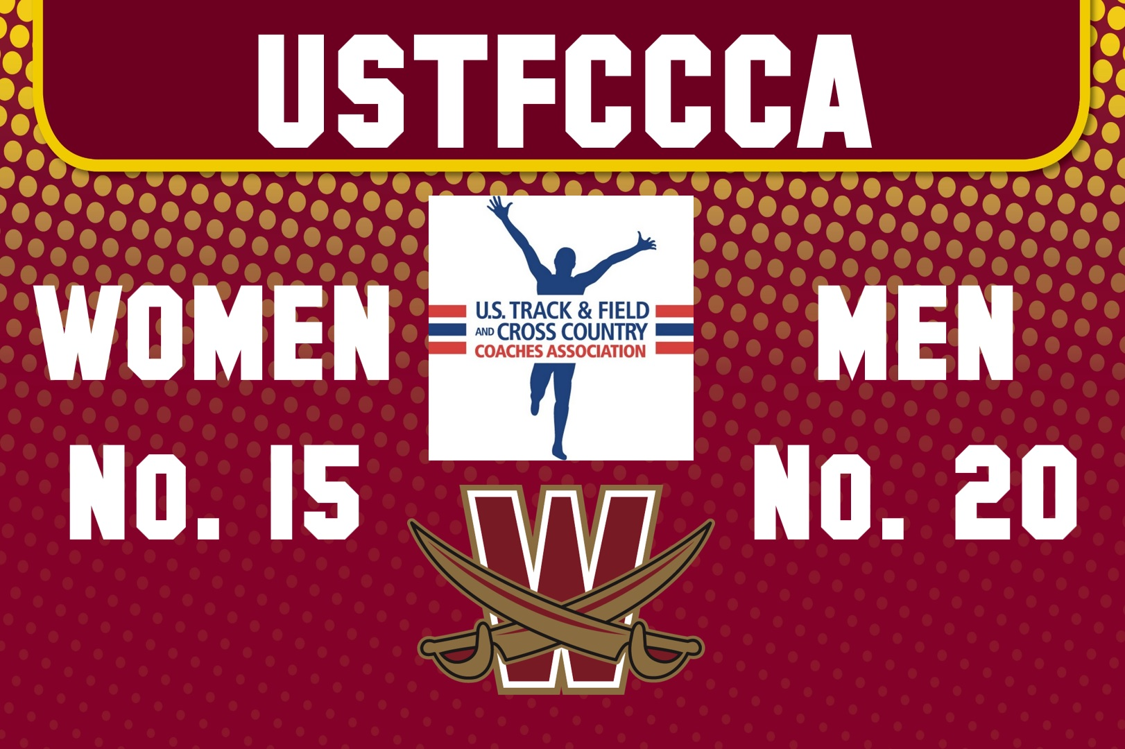 Women Up to 15, Men Remain in Top 20 Nationally
