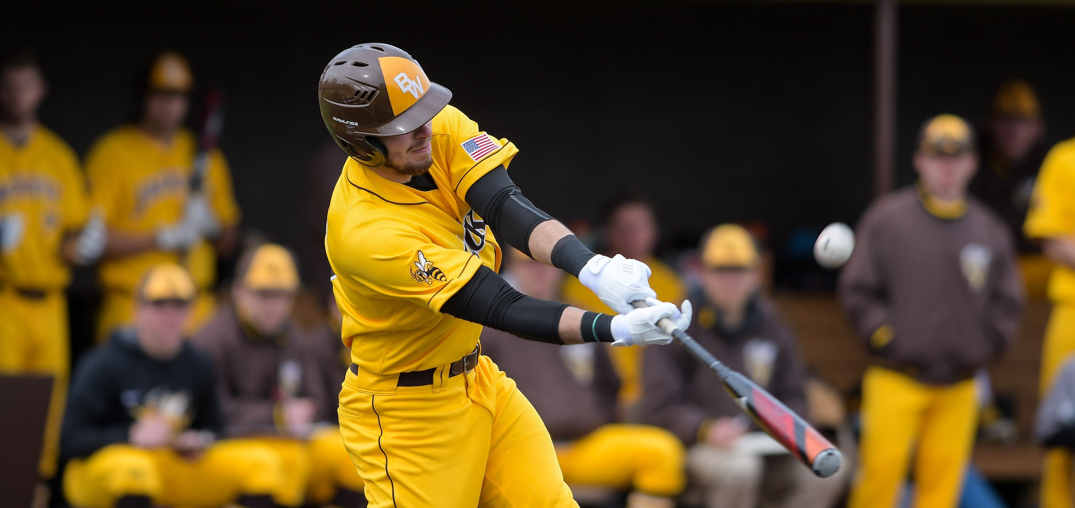 Sophomore third baseman Jacob Bonner had two hits and two RBIs against Denison (Photo courtesy of Jesse Kucewicz)