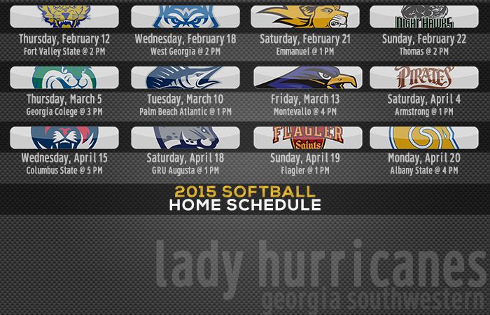 Softball Releases 2015 Schedule