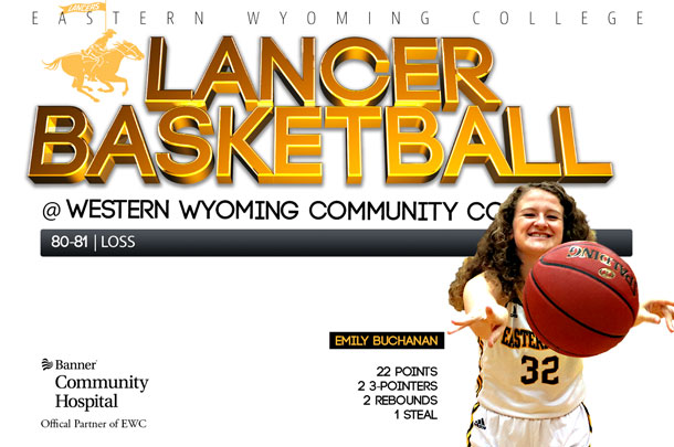 Eastern Wyoming College Lady Lancer Basketball team vs. Western Wyoming Community College Basketball team