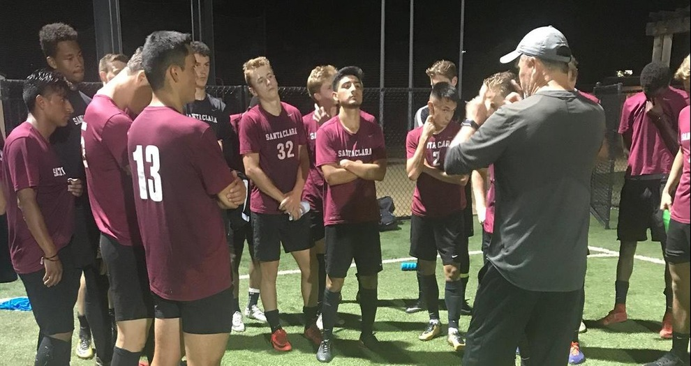 Head coach Cam Rast giving instructions at training prior to the Denmark Foreign Tour.