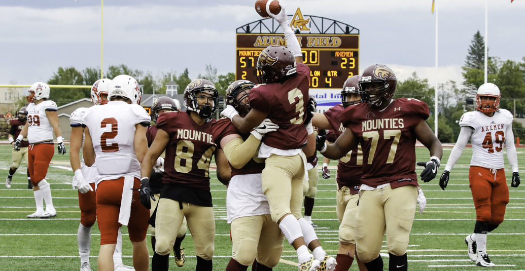 Mounties open AUS season with 64-23 win over Acadia