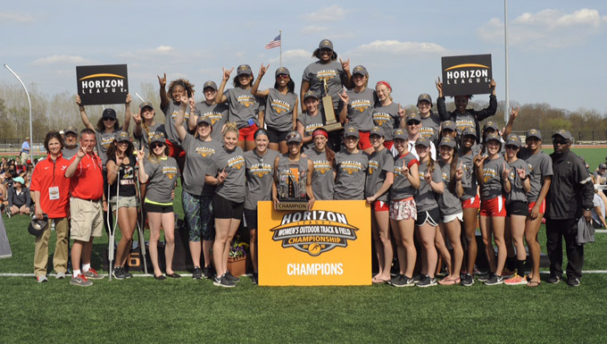 YSU Women's Track and Field 2015 Horizon League Championships (Photo by Jose Juarez)