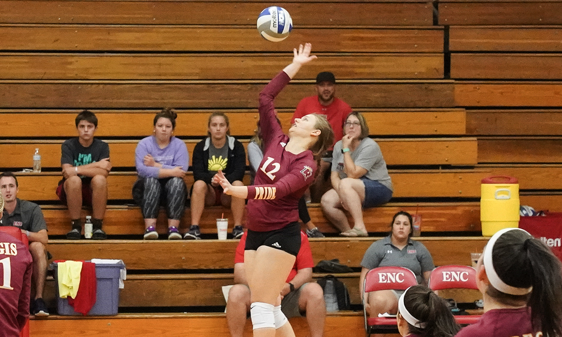 Pride Women's Volleyball Splits GNAC Tri-Match