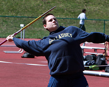 Israel carries Gallaudet at CAC Women's Track and Field Championship