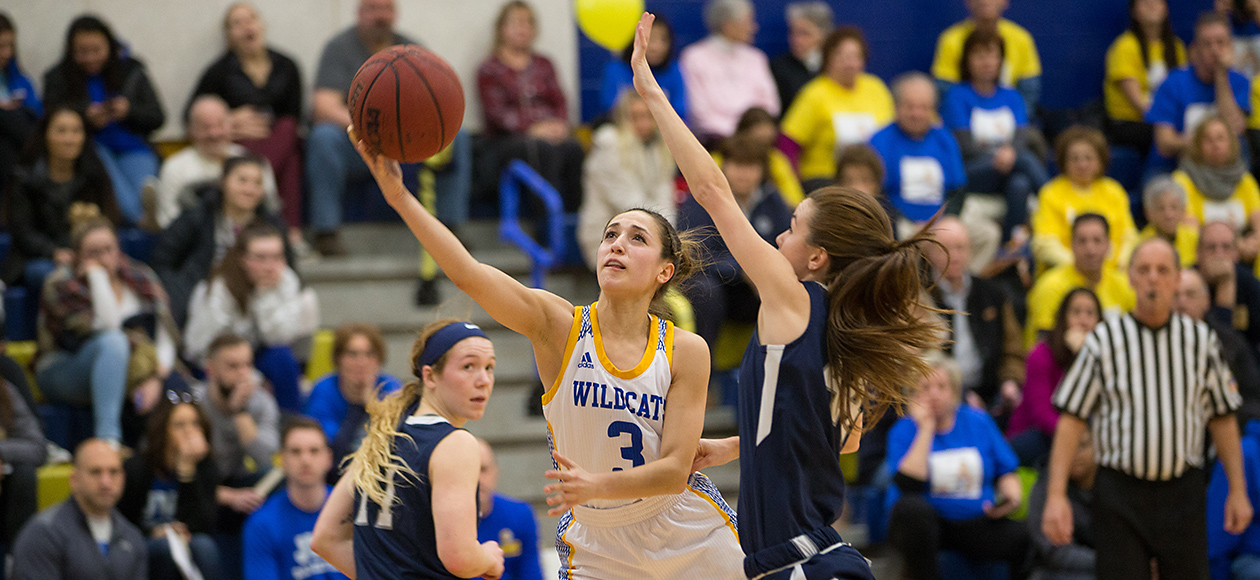 Women's Basketball Grinds Out 74-64 Win Over Rivier