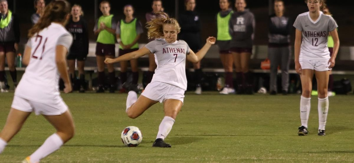 Rhiann Holman Strikes Early to Lead CMS Women's Soccer to 4-0 Win at Caltech