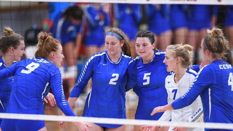 Volleyball Sweeps Merrimack for Fourth Straight Win