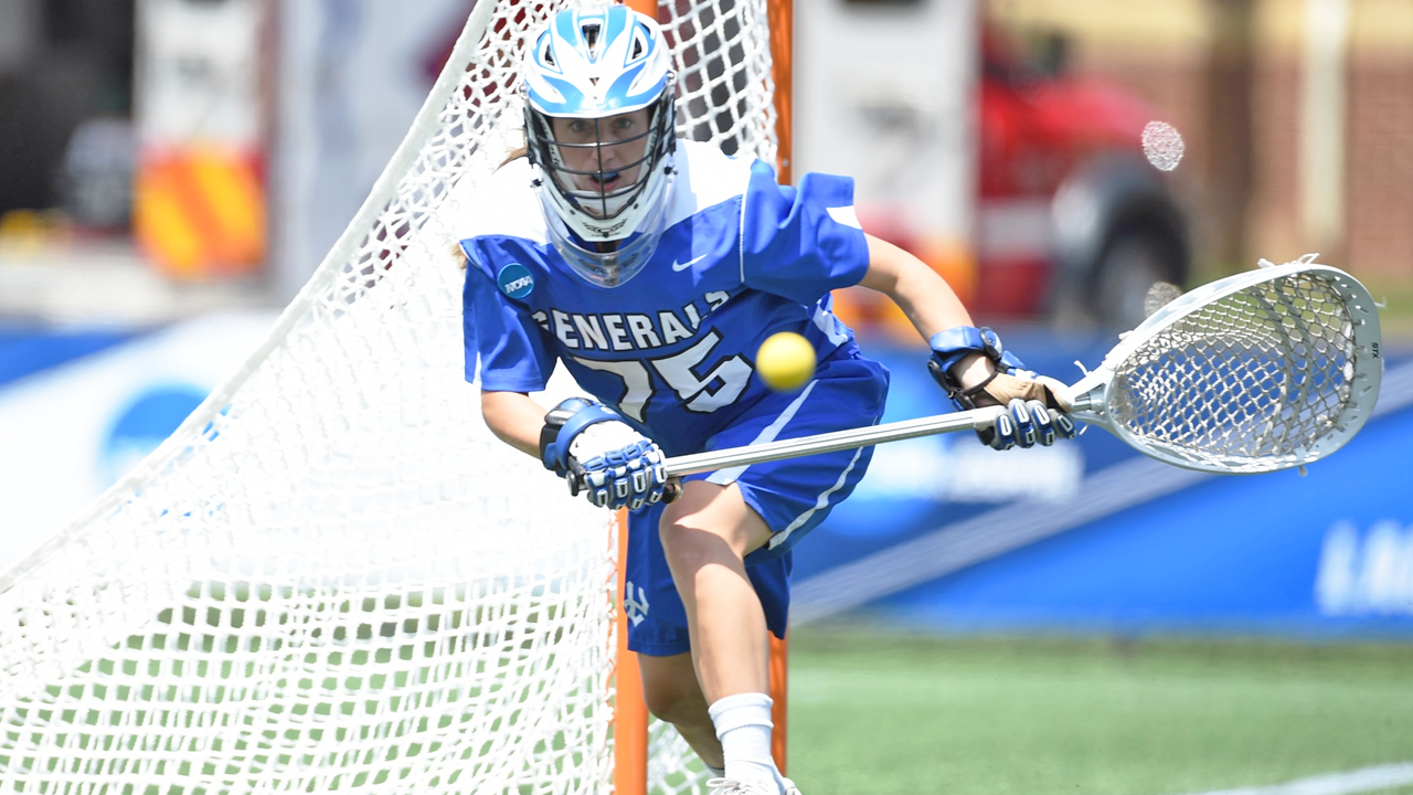 Elliot Gilbert was stellar between the pipes in W&L's 5-4 2-OT loss to TCNJ in the national semifinals.