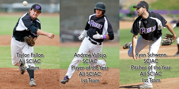 Vallejo tagged SCIAC Athlete of the Year; Schwenn named SCIAC Pitcher of the Year