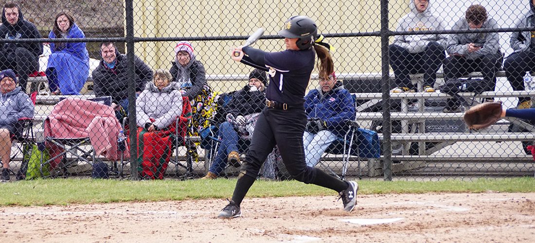 Offense Leads Softball in Sweep of Saginaw Valley in Home Opener