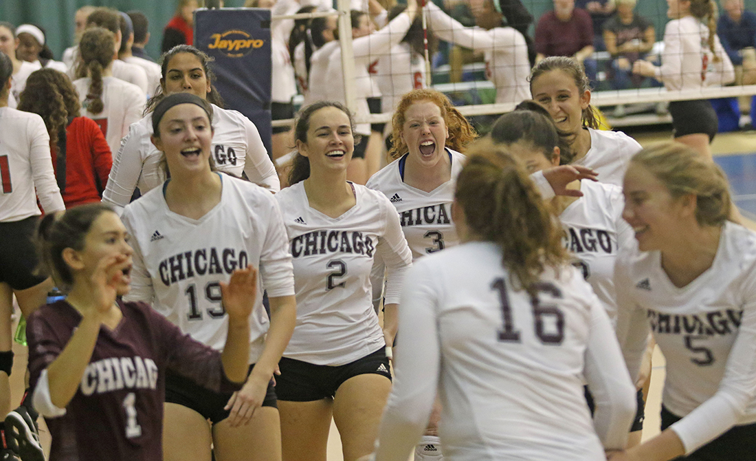UChicago Volleyball Defeats WashU 3-1 to Advance to UAA Championship