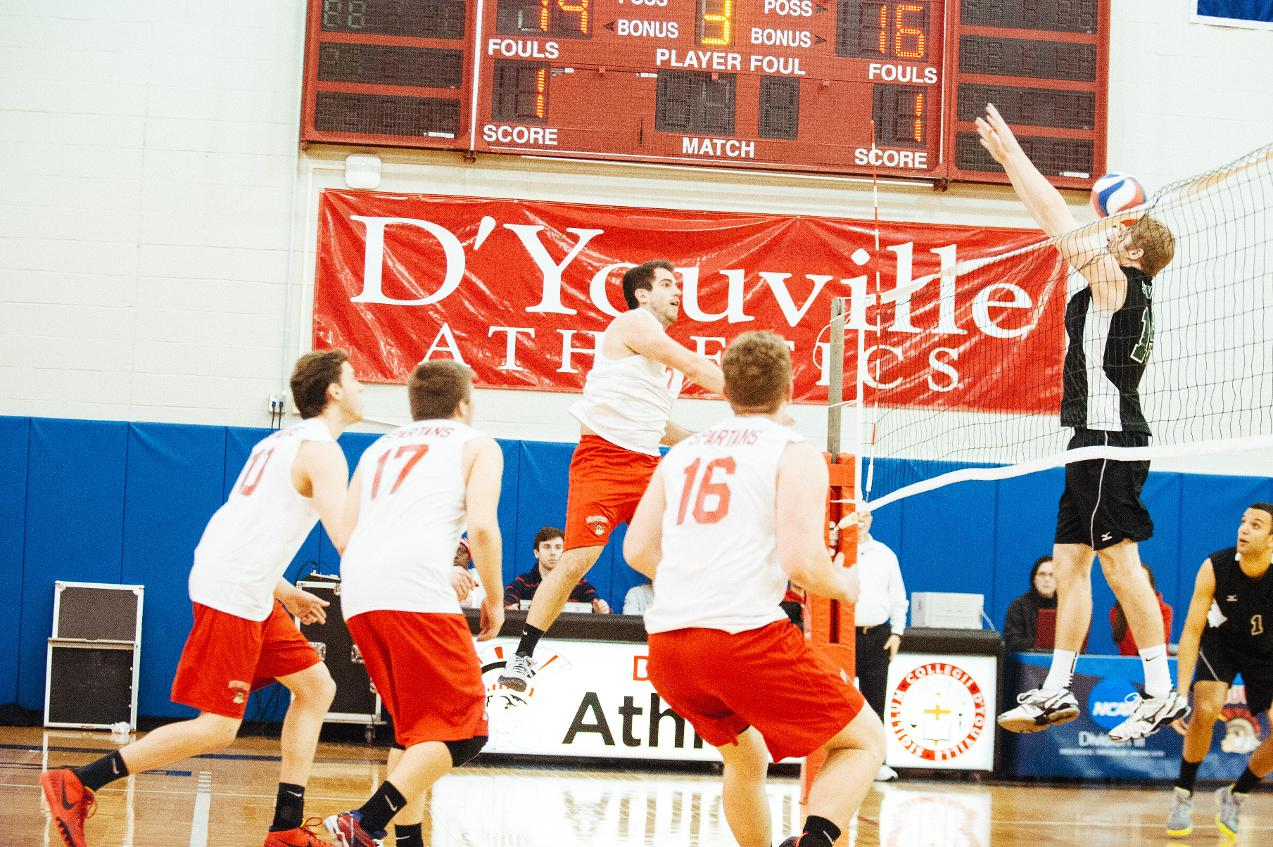 Men's Volleyball Splits Friday Games Against Local Rivals