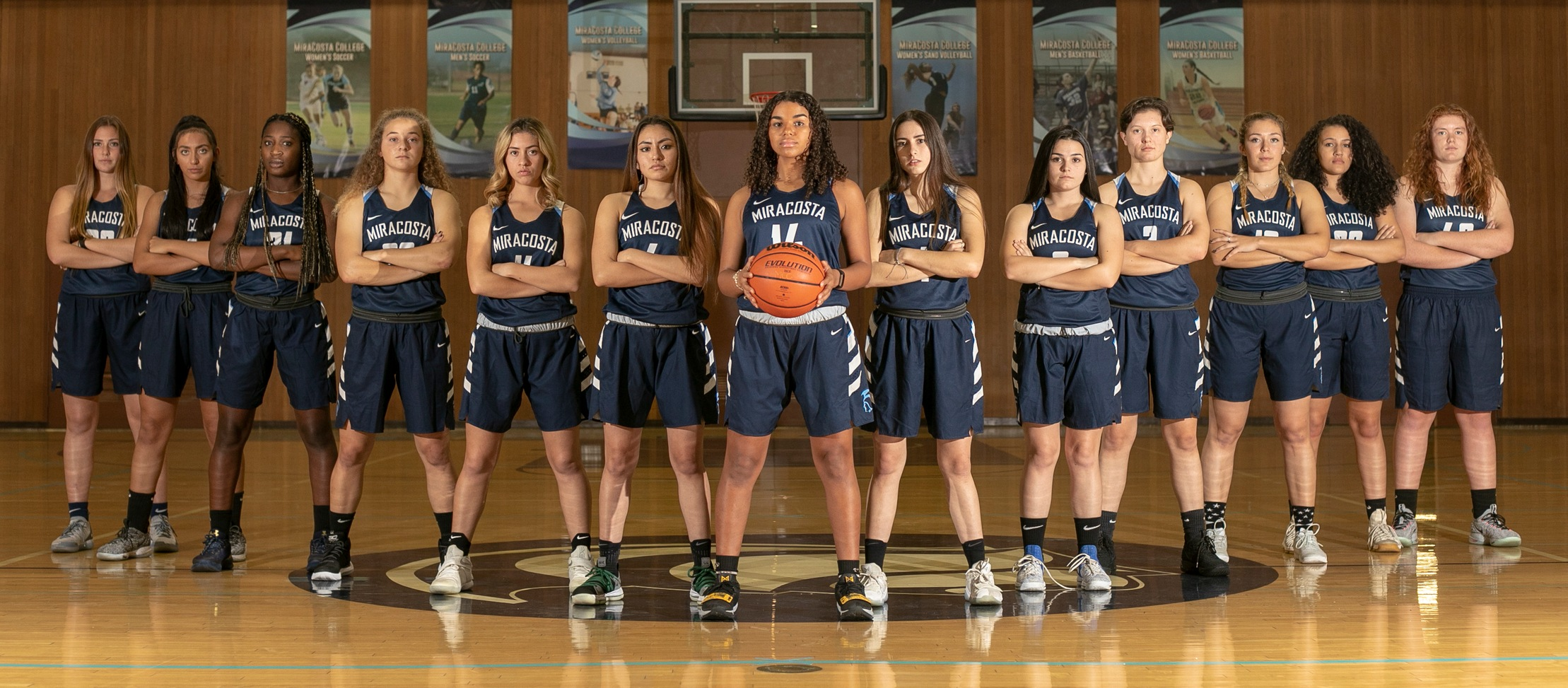 Women's Basketball team picture.