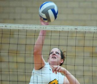 Golden Falcon Volleyball Drops Back-And-Forth Affair