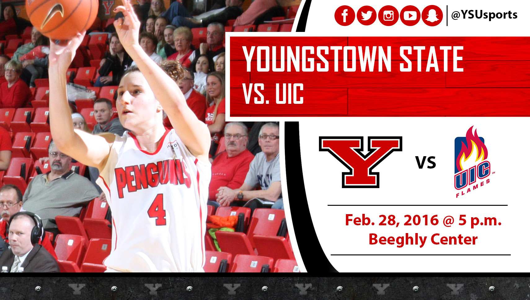 Nikki Arbanas and the Penguins host UIC on Sunday in their regular-season home finale.